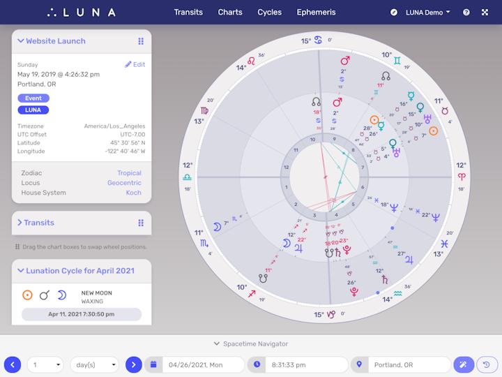 Image of LUNA Application